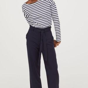 H&M Dark Blue Paper Bag Pants